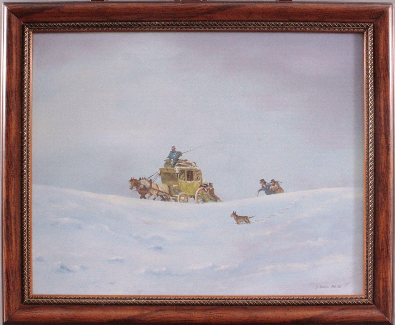 Janusz Lanc geboren 1946 in Polen,  Winterlandschaft