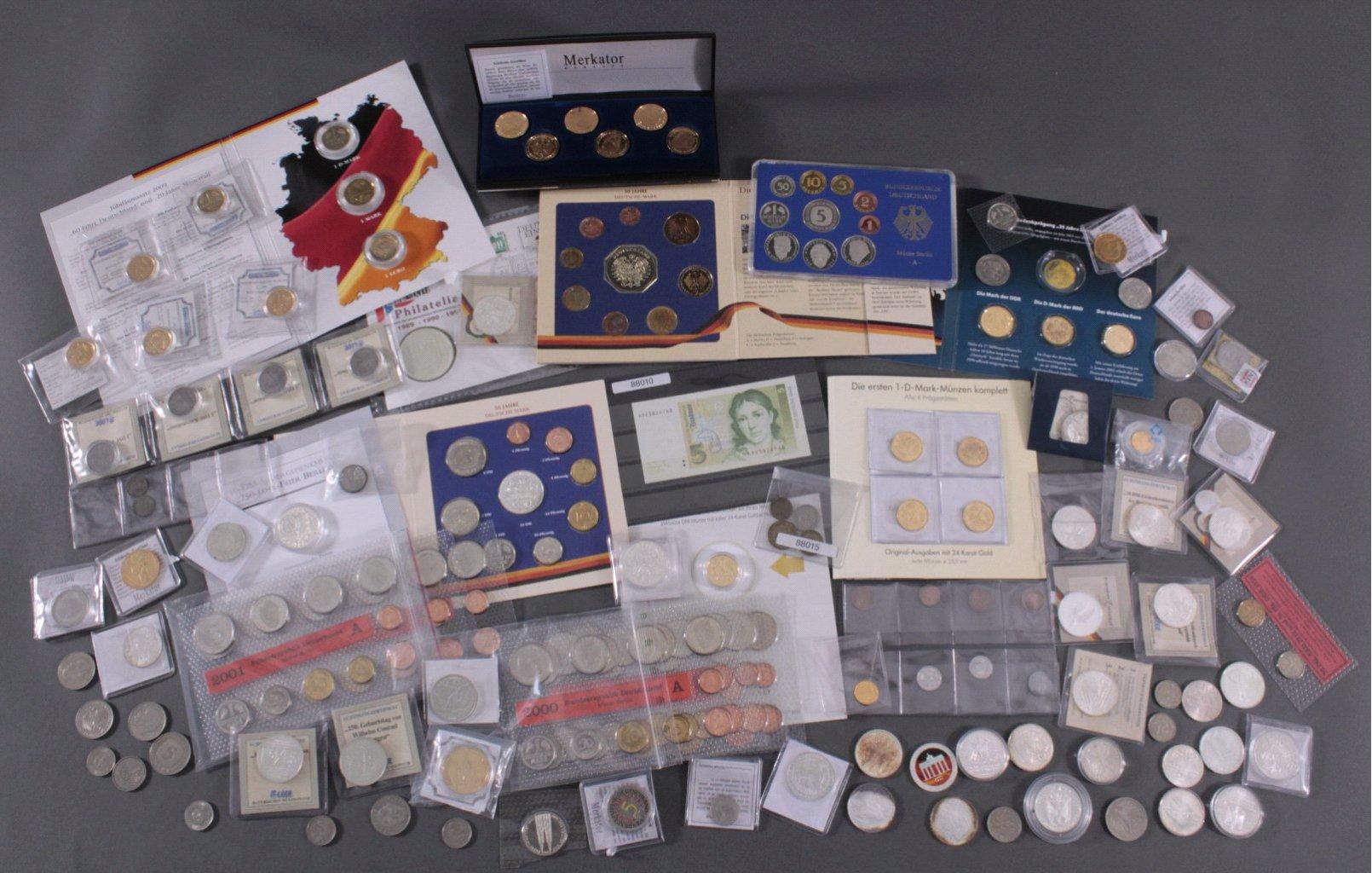 Münzsammlung BRD mit über 500 DM