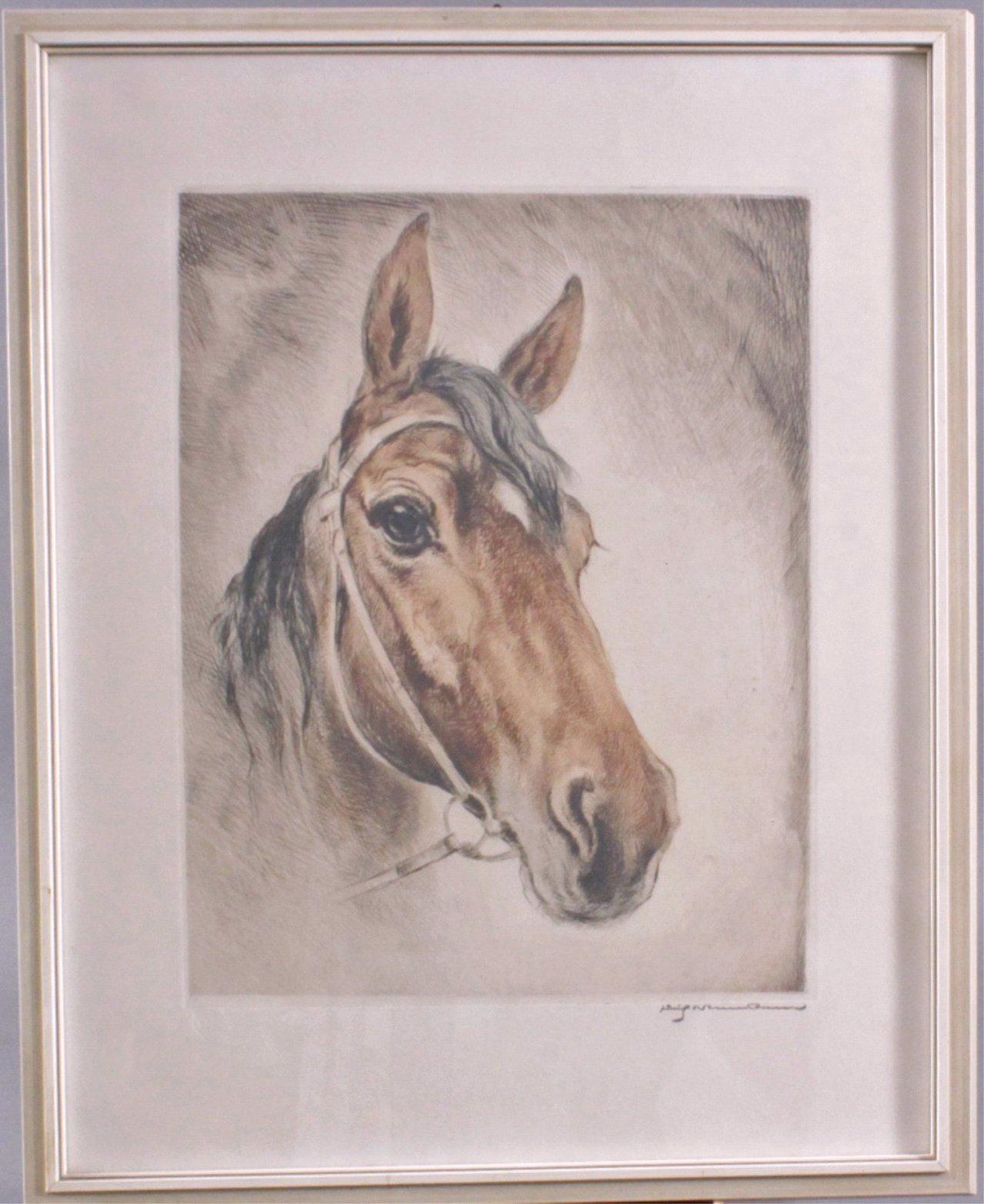 """Fritz Neumann X-X, """"Pferd Lissy"""", Radierung"""