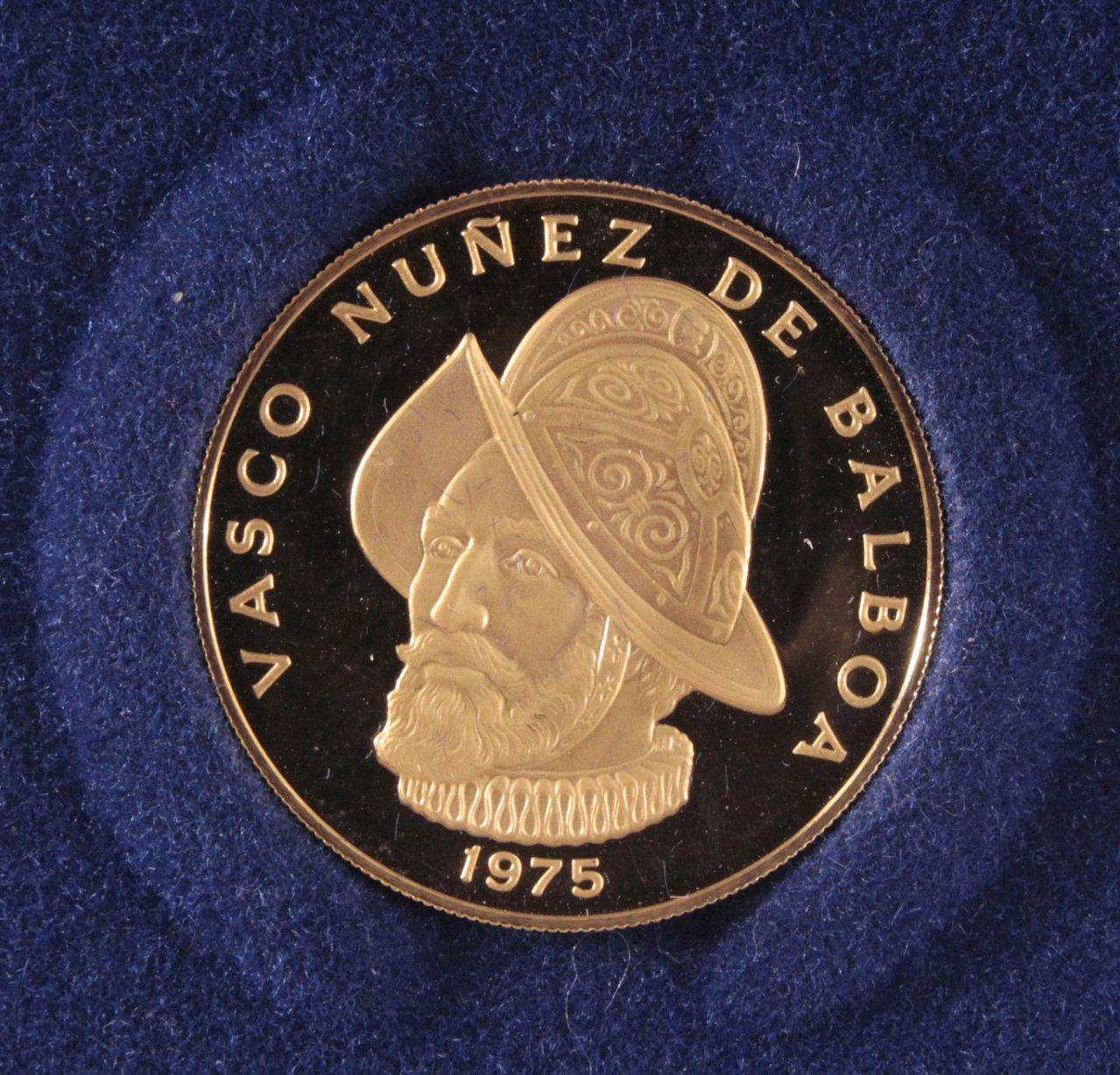 Goldmünze Panama 100 Balboa, Vasco 1975