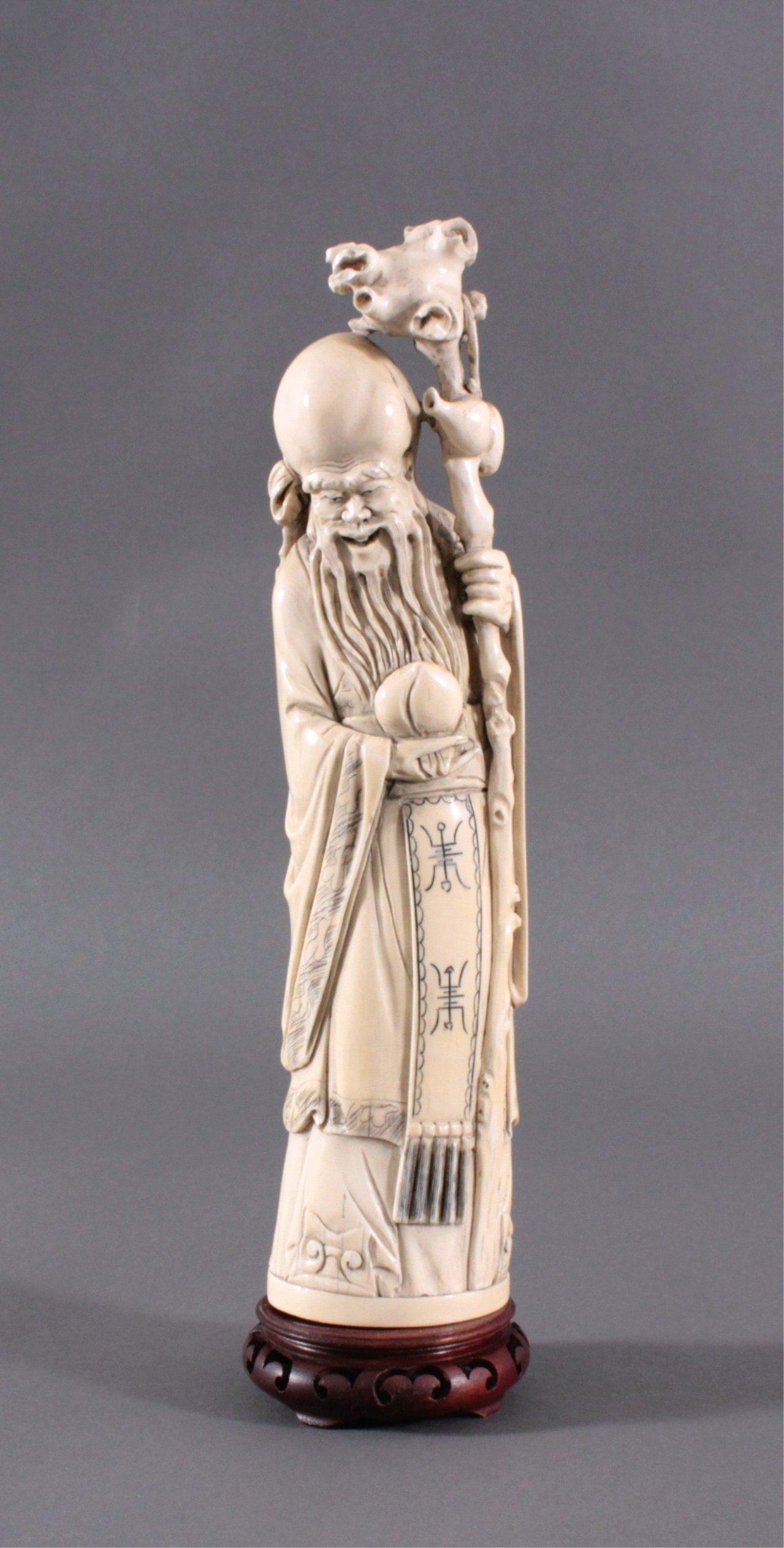 Elfenbein Figur des Shou Xing