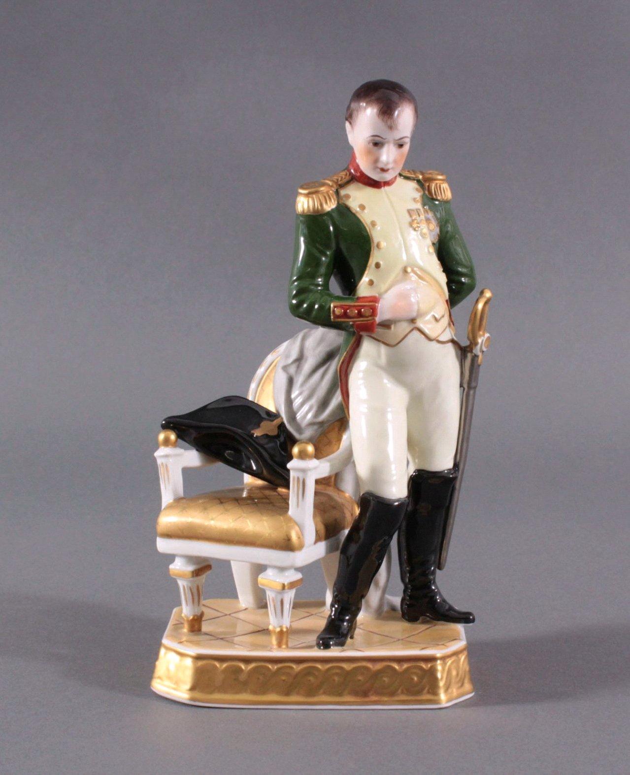 Porzellanfigur Napoleon I, Manufaktur Rudolf Kämmer