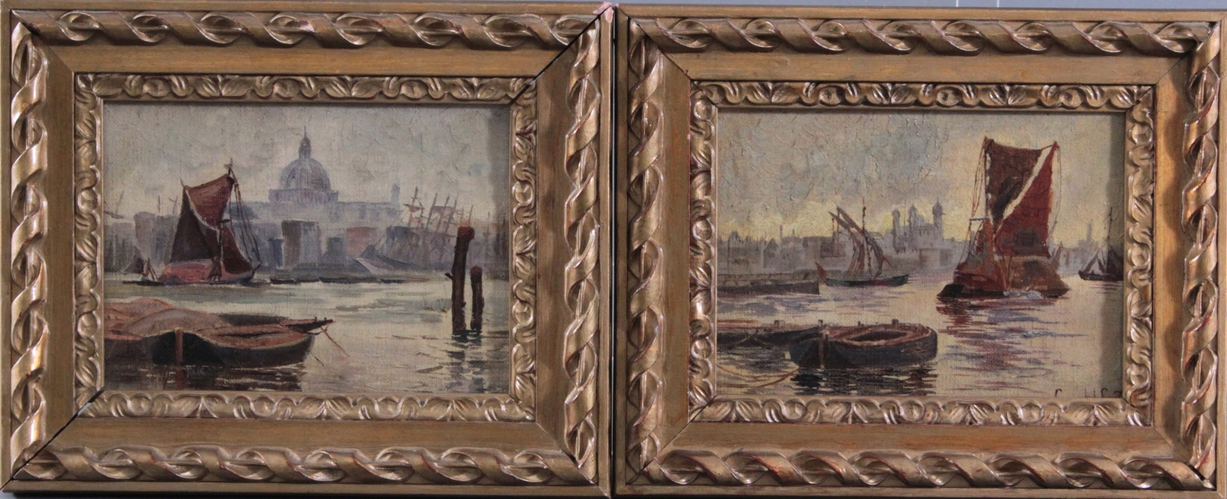 "2 kleine Gemälde ""Venedig"""