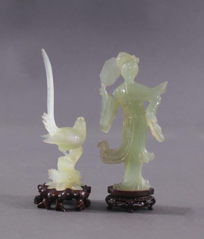 Zwei Jadefiguren