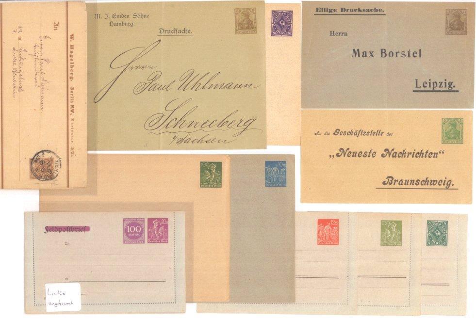 1890/1923 DEUTSCHES REICH – PRIVATGANZS., HEIMAT SCHNEEBERG