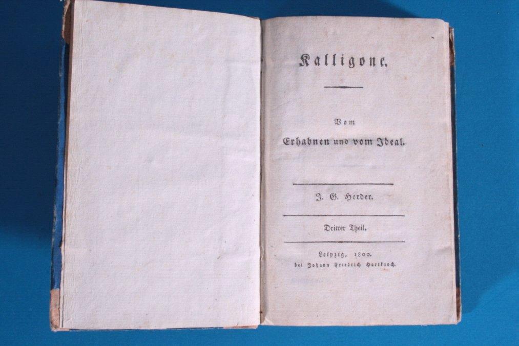Kalligone, vom Erhabnen und vom Staat