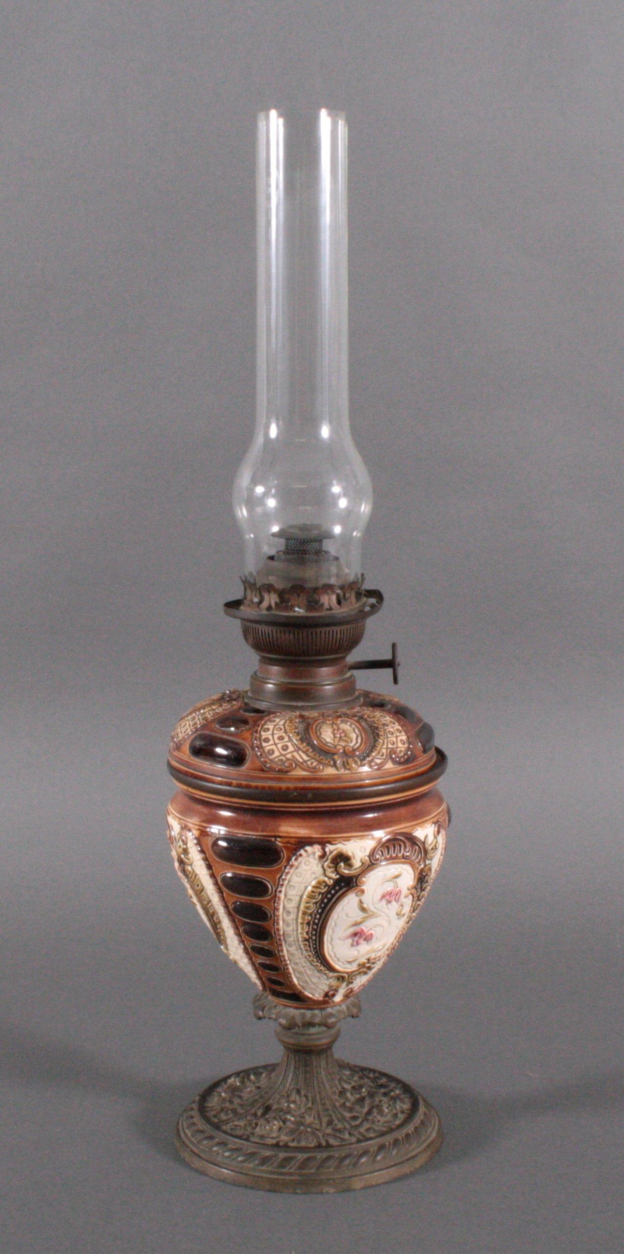 Petroleumlampe um 1900-1