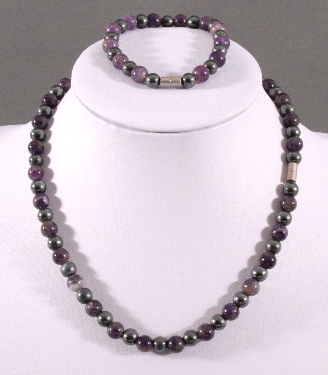 Achat Halskette und Armband