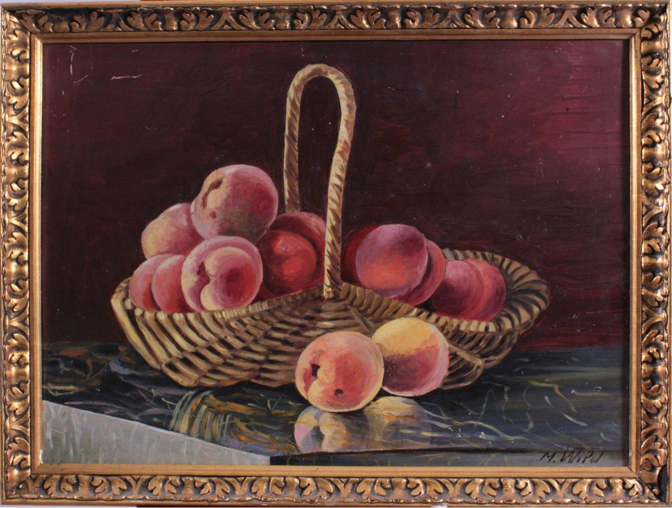 M. Wipol ?-?, Stilleben mit Früchten