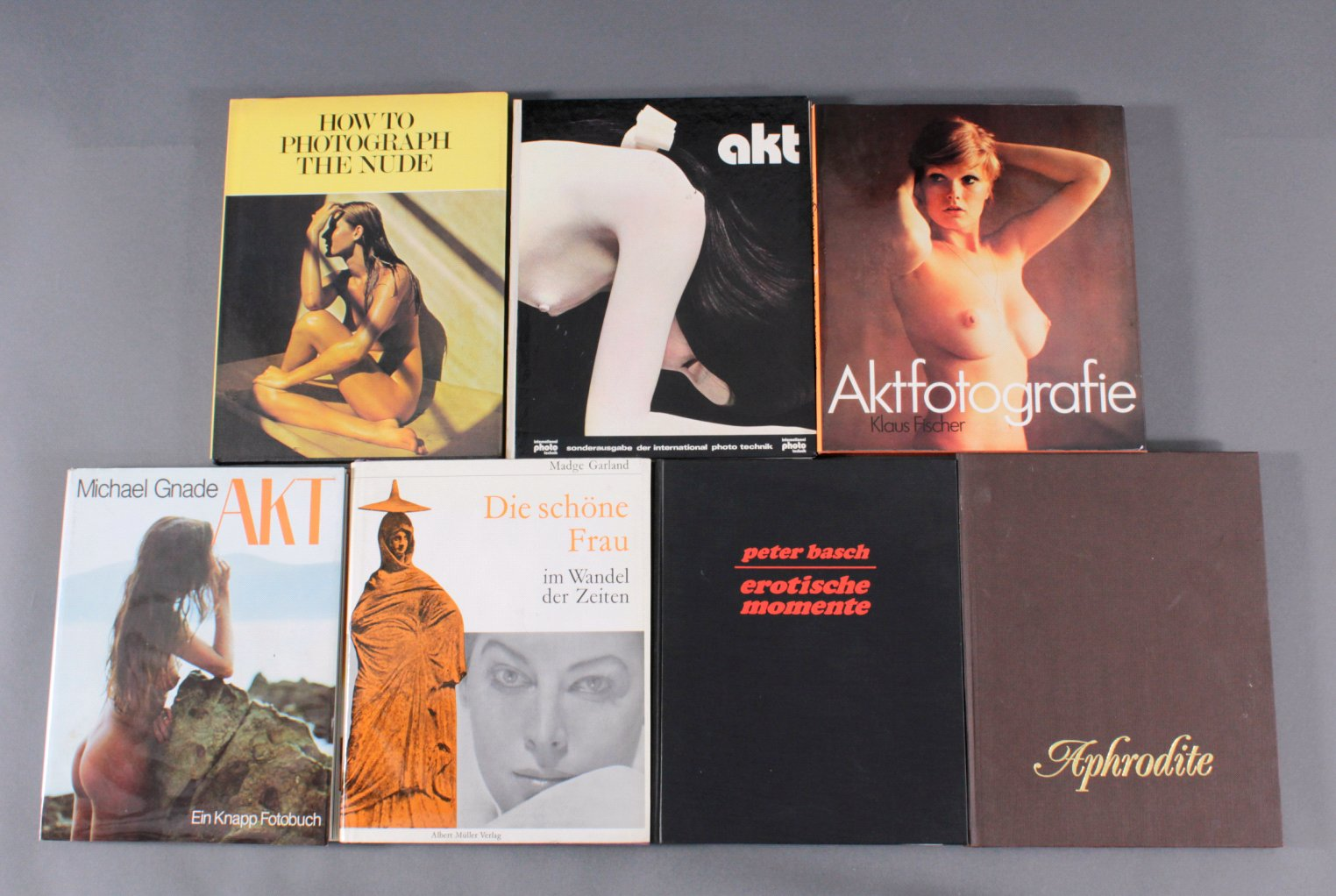 Konvolut Bücher zum Thema Aktfotografie, 7 Stück