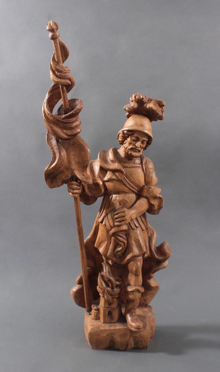 Heiliger Florian. Holzfigur