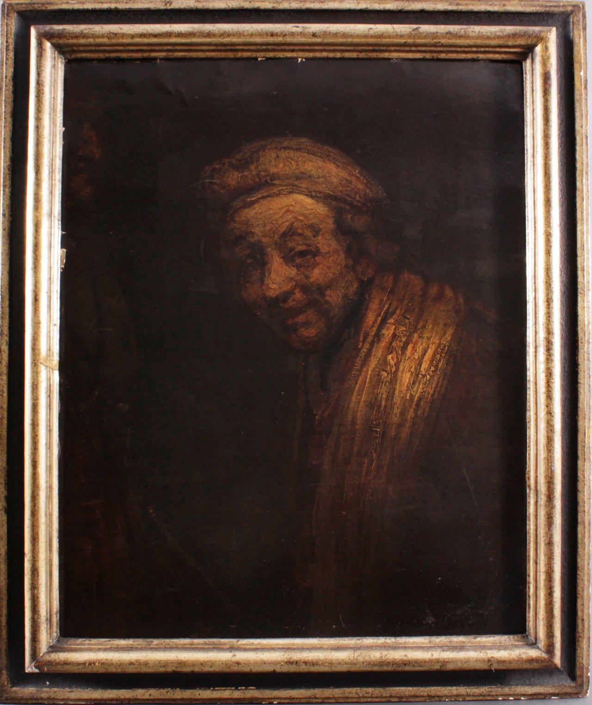 Rembrandts Lachen (Selbstbildnis). Kunstdruck