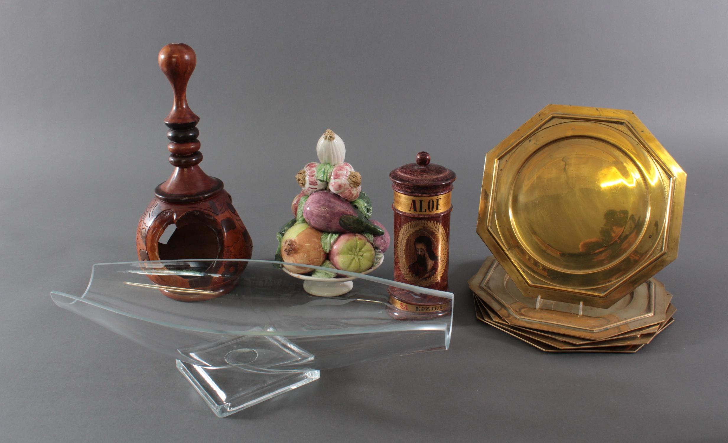 Konvolut Tischdekoration und Gebrauchsgegenstände