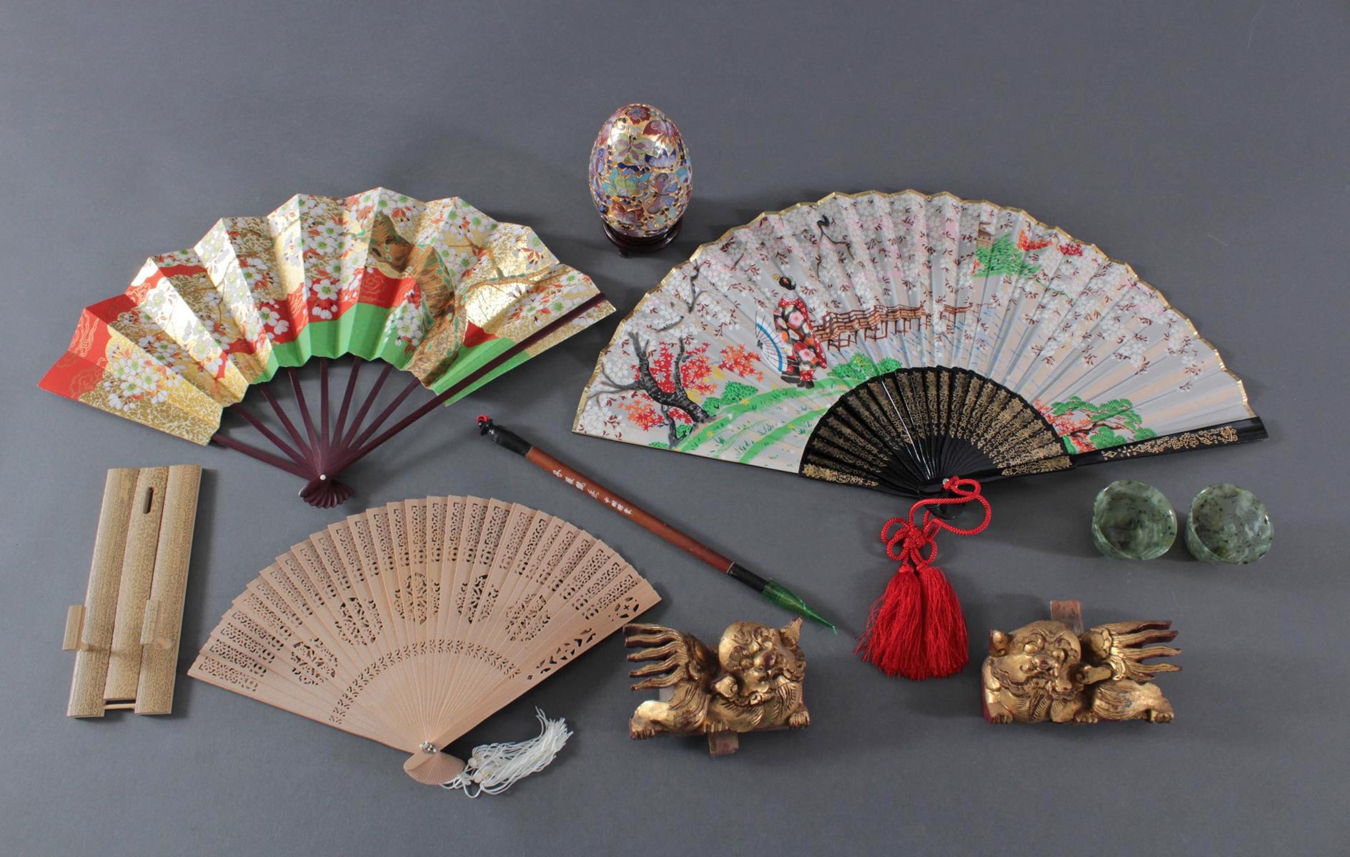 Asiatika Konvolut. 9 Teile