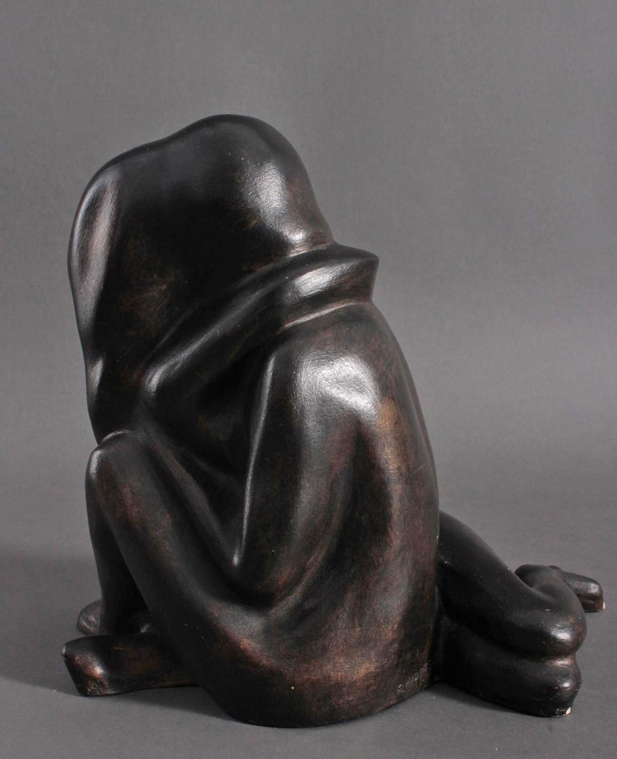 Skulptur, verschlungener Liebesakt