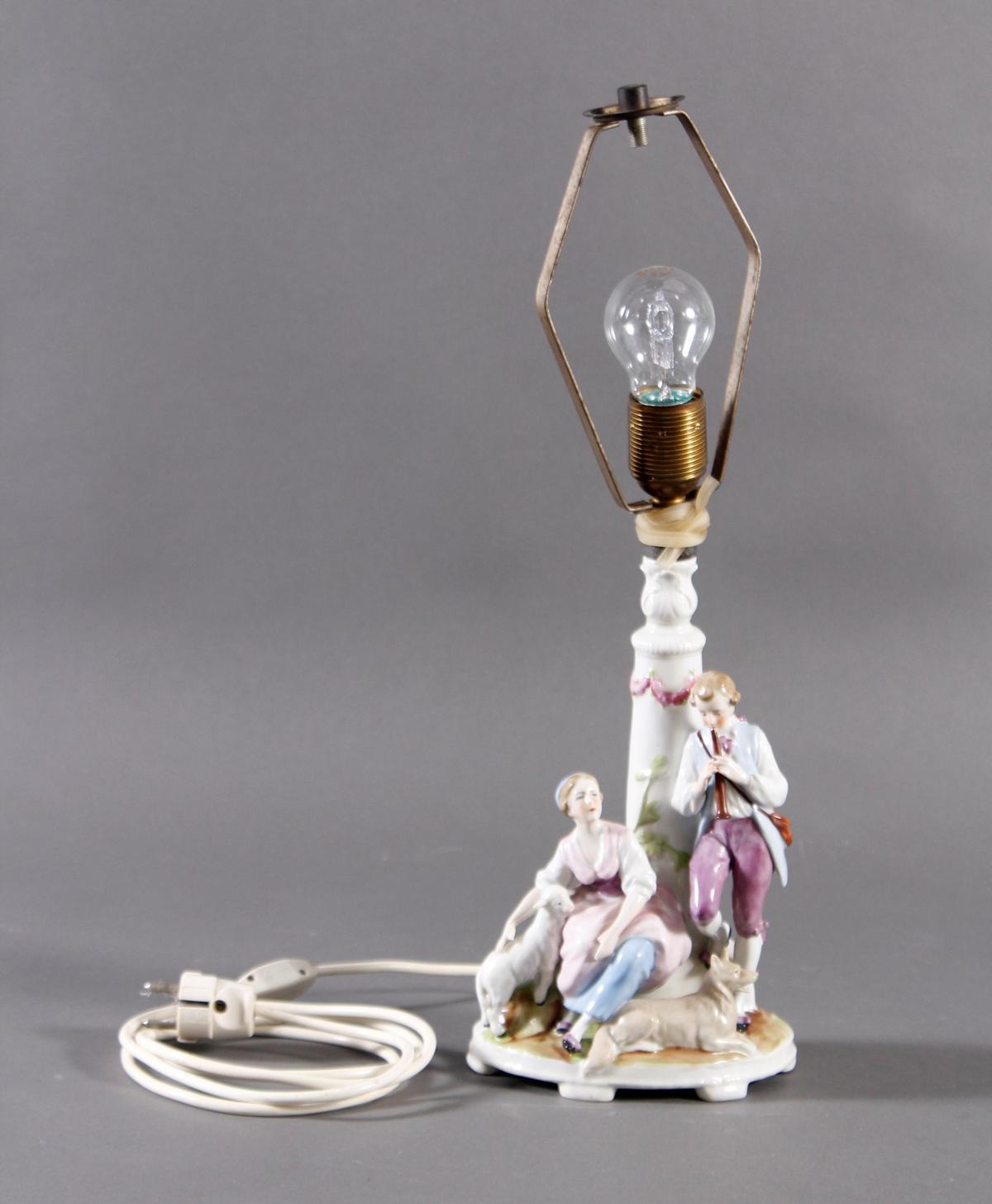 Figürliche Tischlampe aus der 1. Hälfte des 20. Jahrhunderts