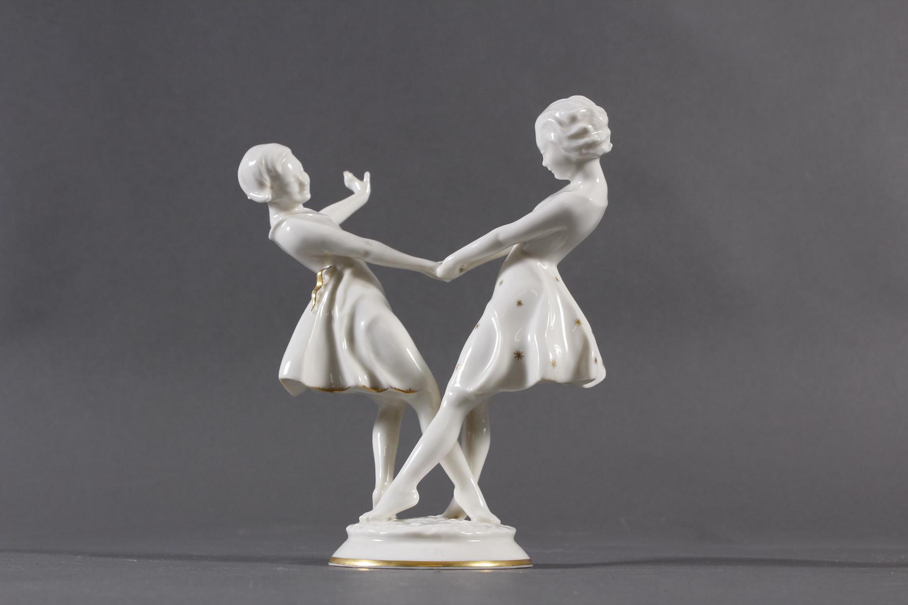 Tanzende Mädchen, Hutschenreuther Selb, Kunstabteilung