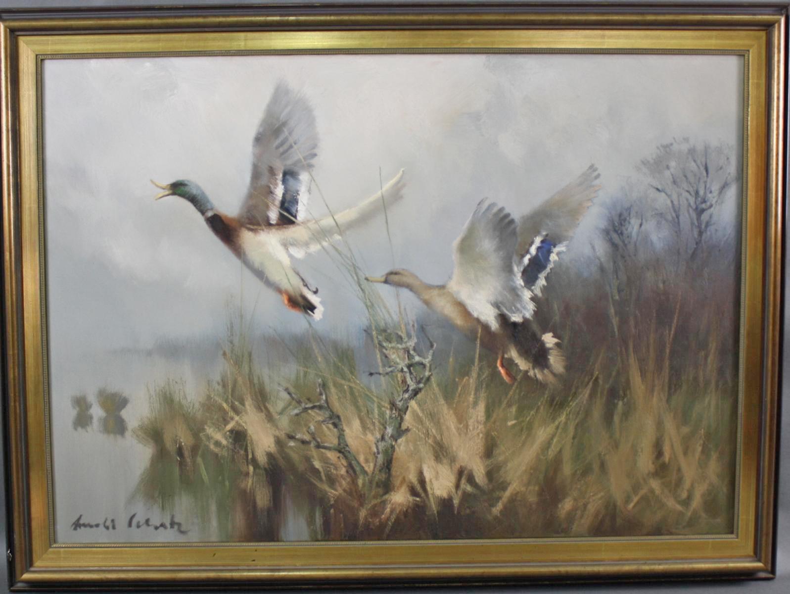 Arnold SCHATZ (1929-c.1999) , Auffliegende Enten