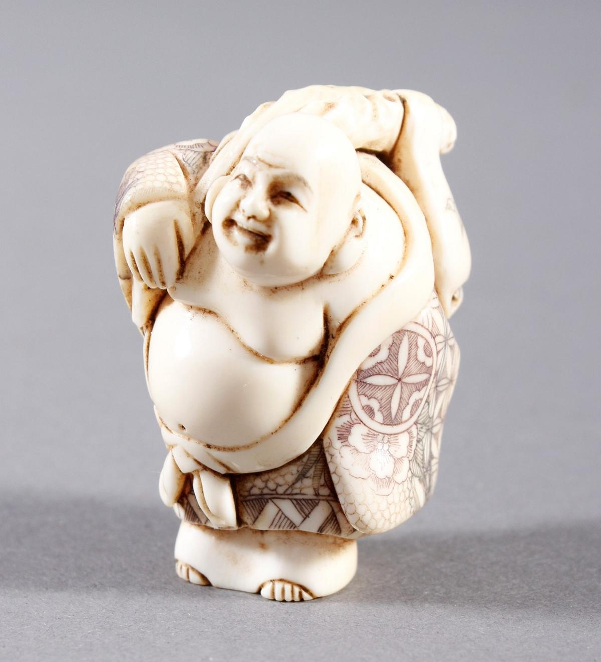 Elfenbein Okimono, Unsterblicher, Japan, Meiji Periode