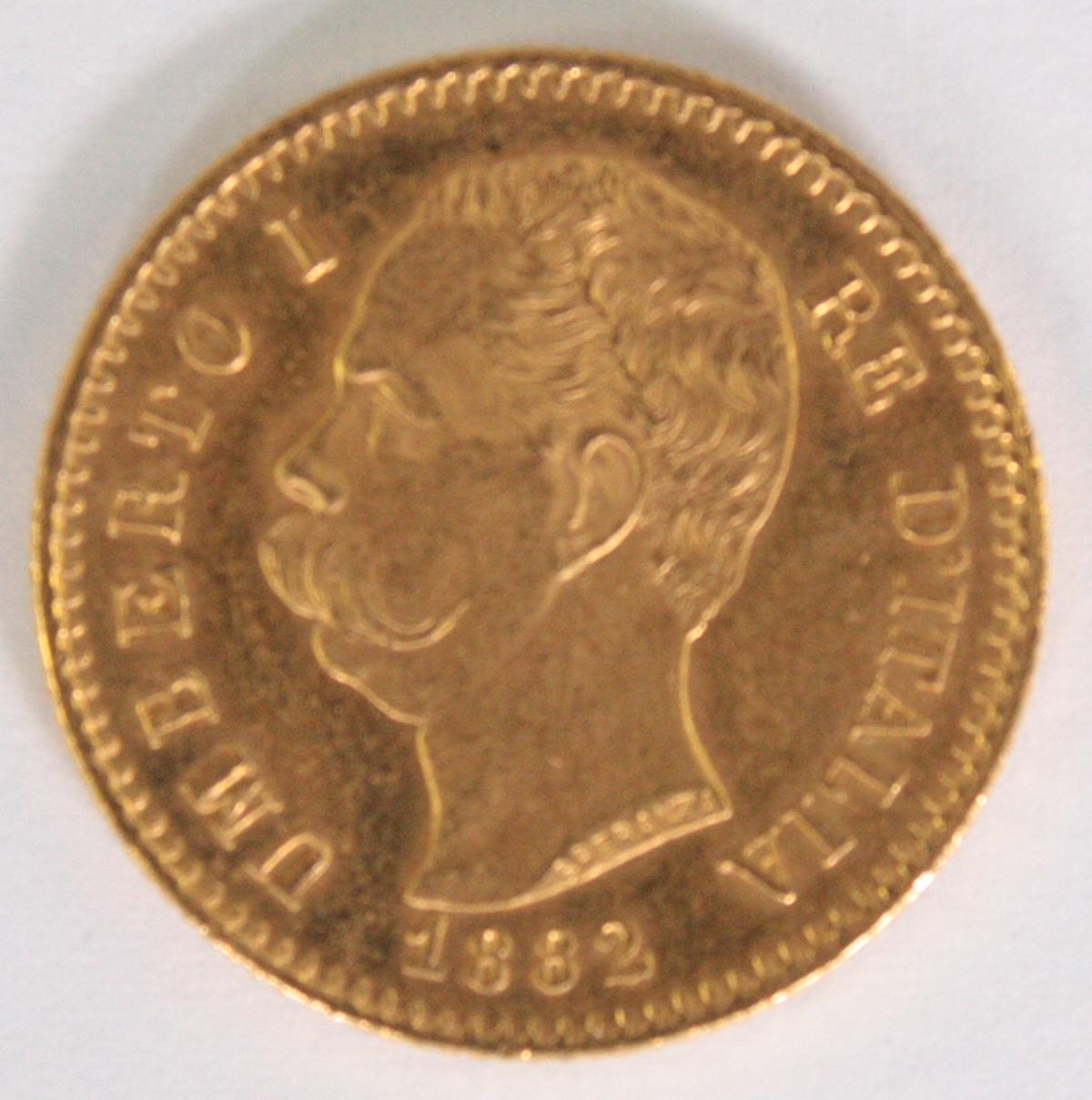 Italien, 20 Lire, Umberto I 1882
