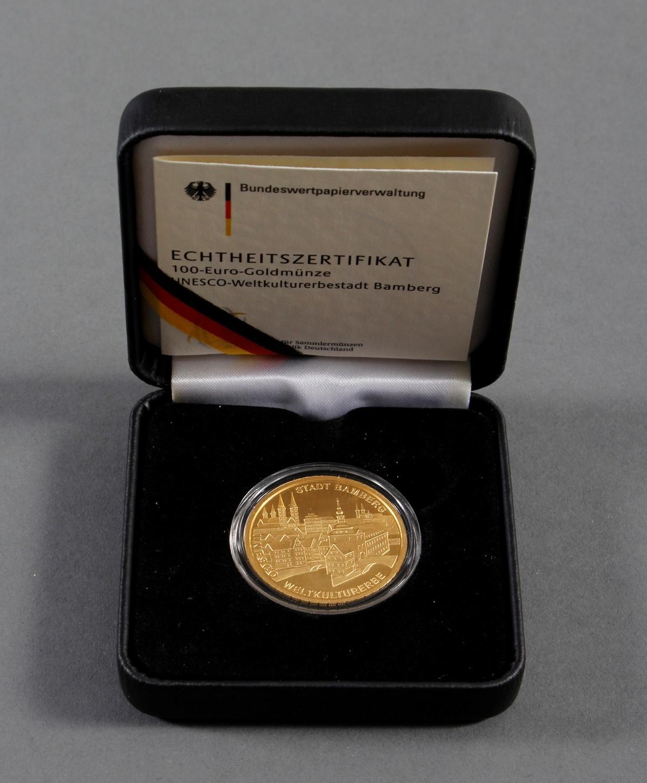 100 Euro Goldmünze 2004, UNESCO Weltkulturerbstadt Bamberg