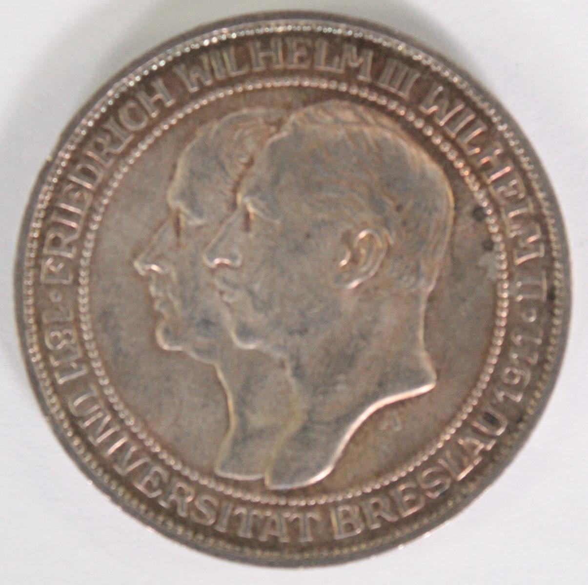 Deutsches Reich 3 Mark 1911 A Wilhelm III Jäger 108 ss