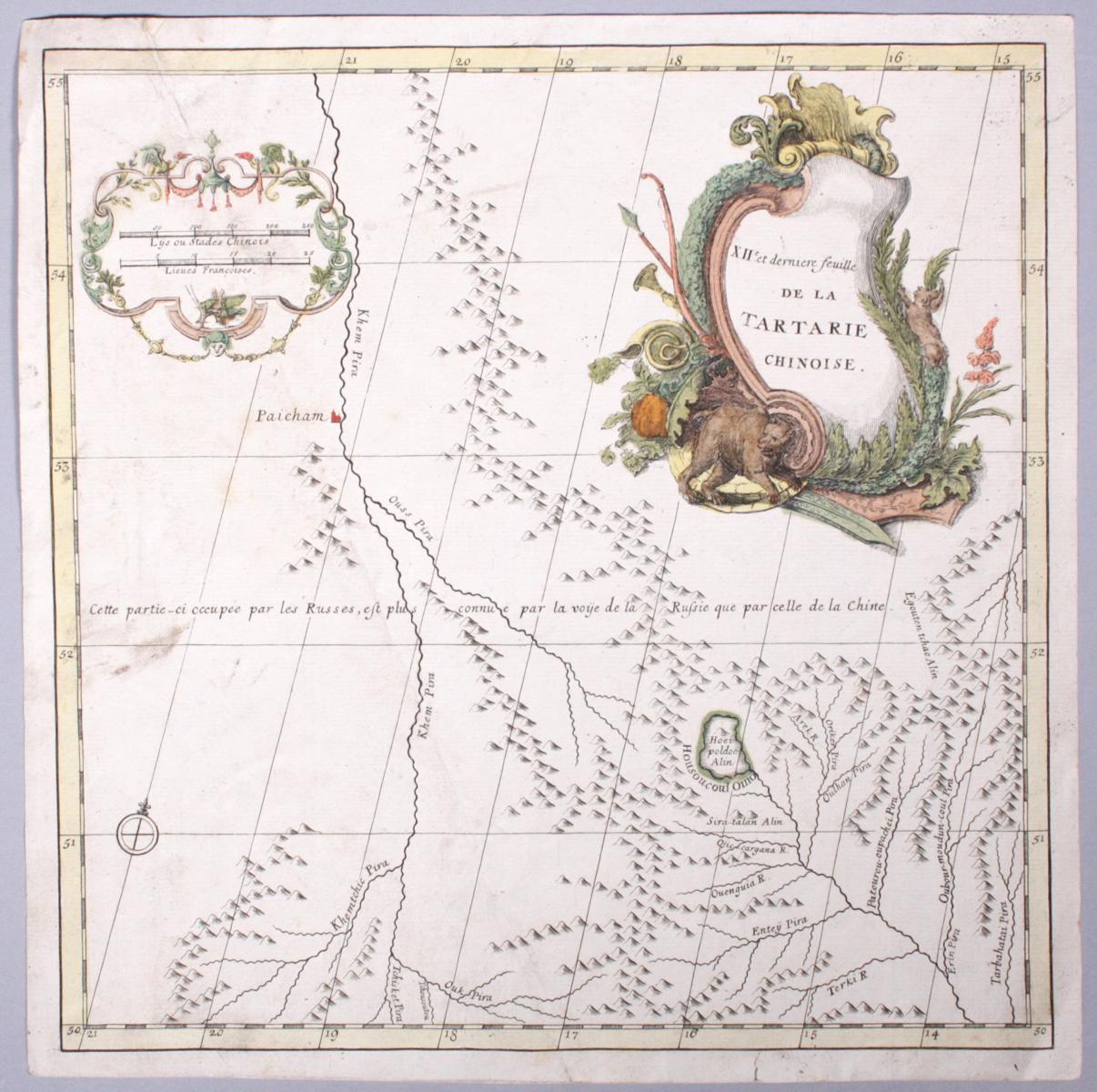 Landkarte China, XII. und letztes Blatt der chinesische Tartarie