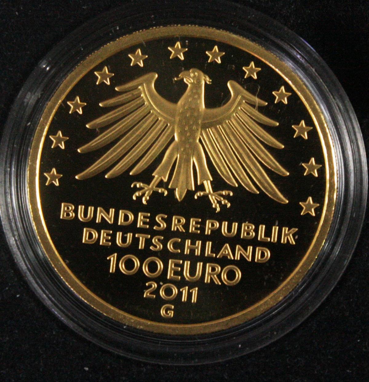 100 Euro Goldmünze 2011, UNESCO Welterbe – Wartburg