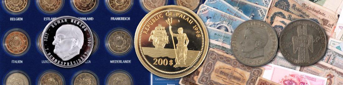 Ständiger An- und Verkauf von Münzen und Medaillen