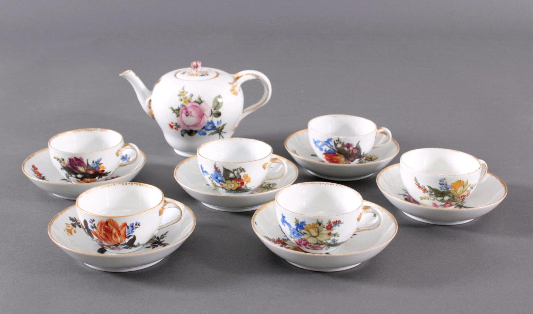 Teeservice für 6 Personen, Meissen 1774, Marcolini