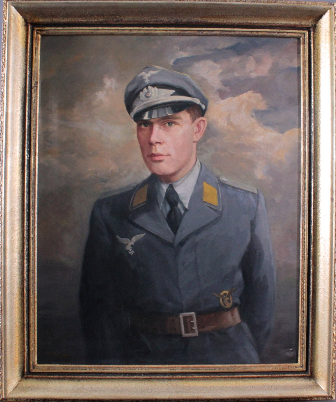 Ölgemälde Soldat der Wehrmacht-1