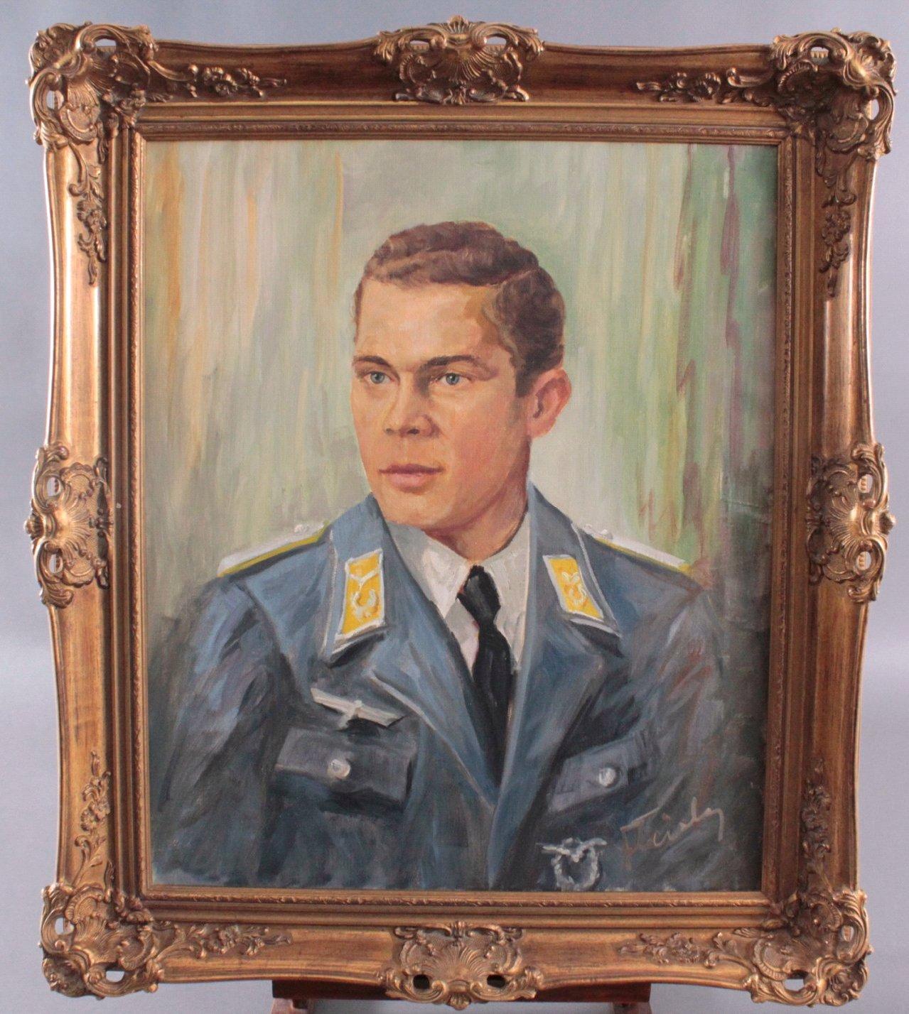 Ölgemälde, Brustbildnis eines Soldaten