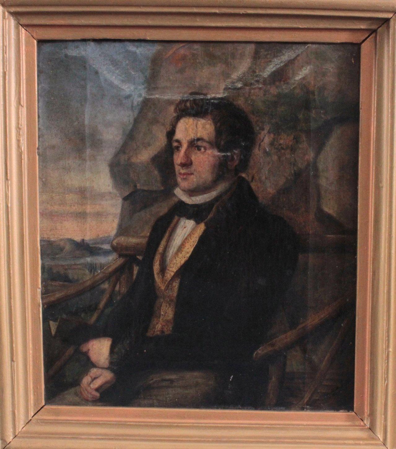 Biedermeier-Herrenporträt
