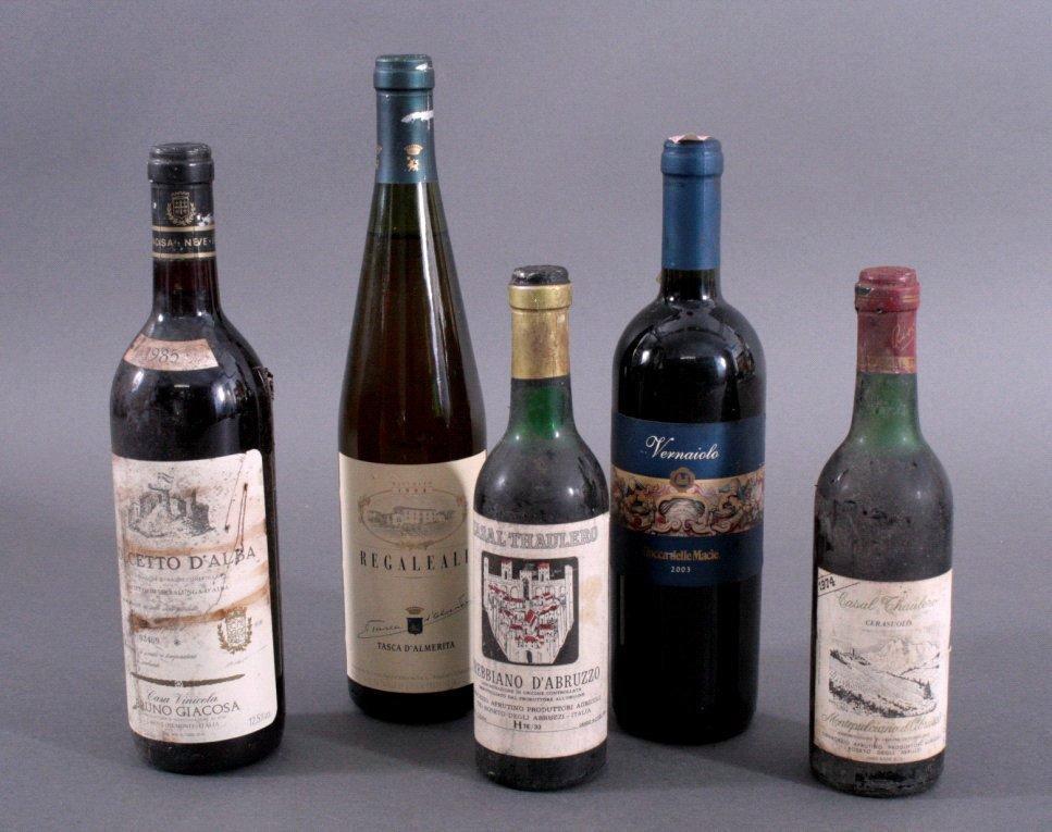 5 Flaschen Wein Italien
