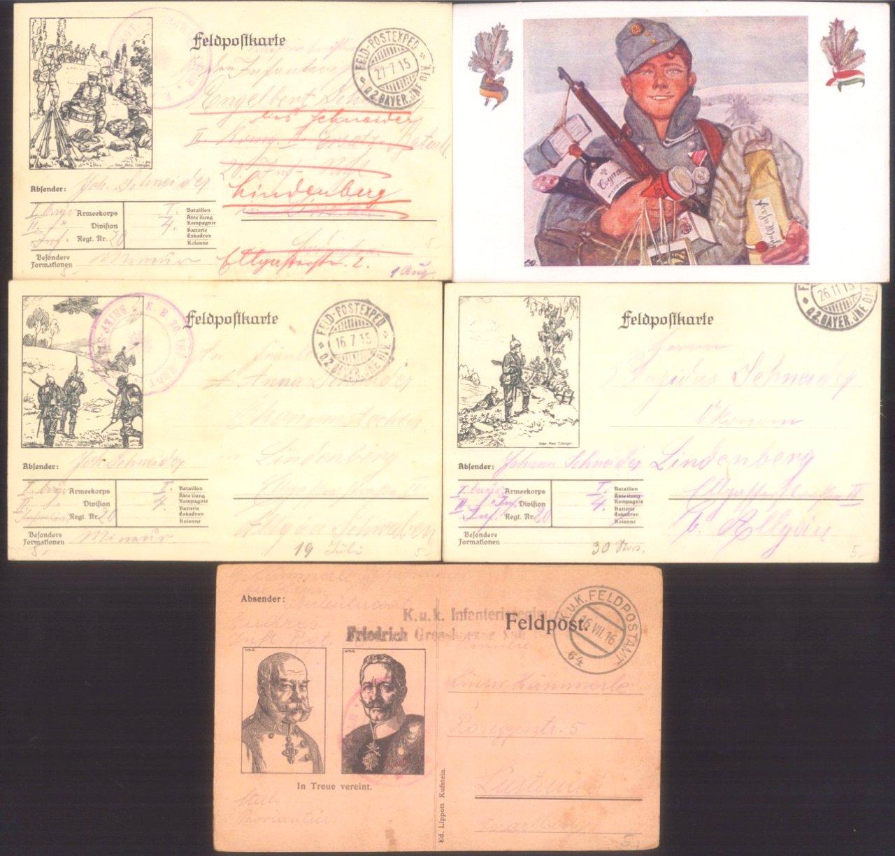 FELDPOST I. WELTKRIEG 1914-1918