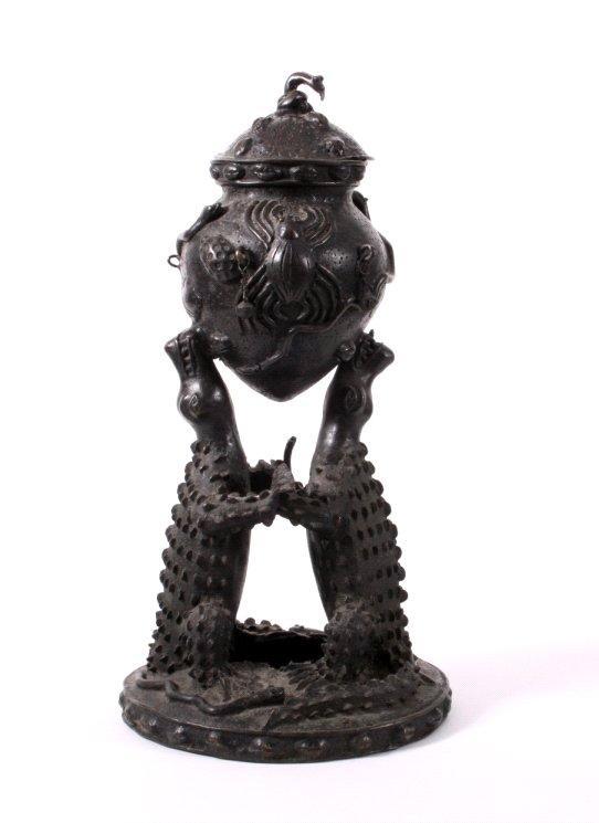 Ritualgefäß, Benin, Nigeria Anfang 20. Jh.-6