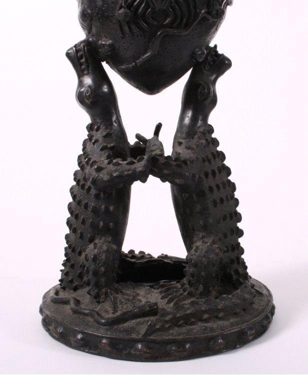 Ritualgefäß, Benin, Nigeria Anfang 20. Jh.-8
