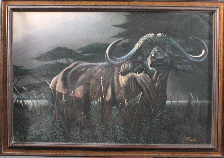 F. Laube (1914-1993), Afrikanischer Wasserbüffel-2