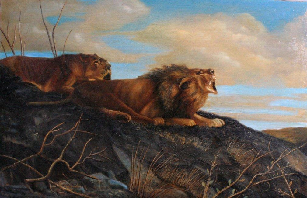 Ungewitter ?-?, Brüllender Löwe und Löwin