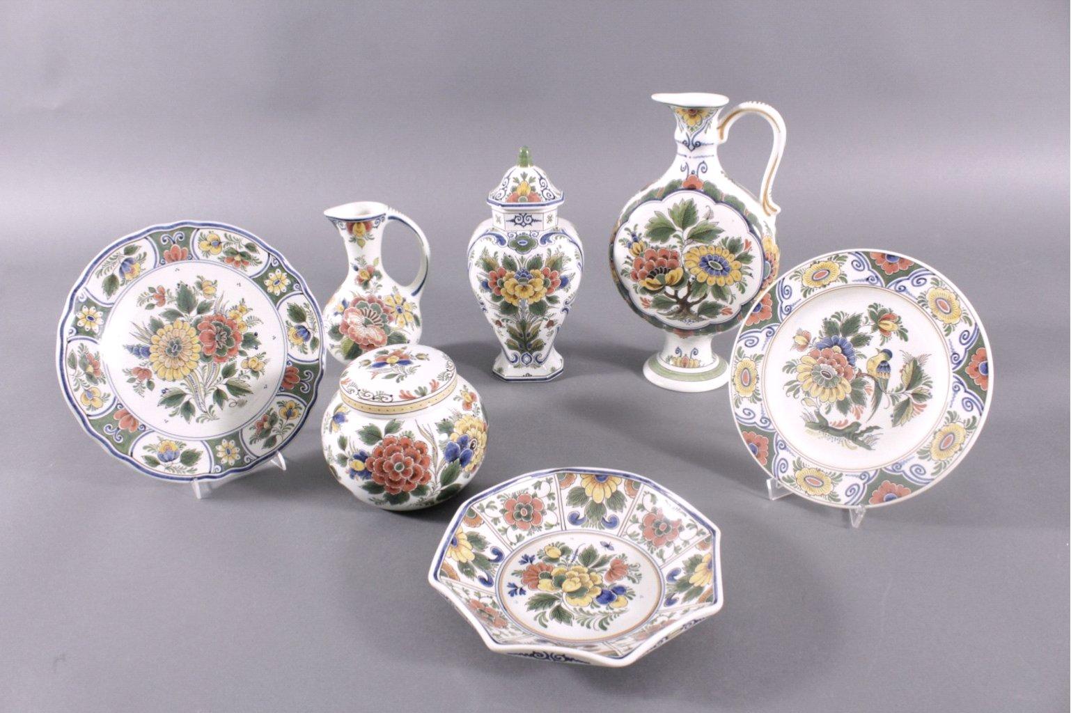 Original Delft Polychrom RAAM. 7 Teile
