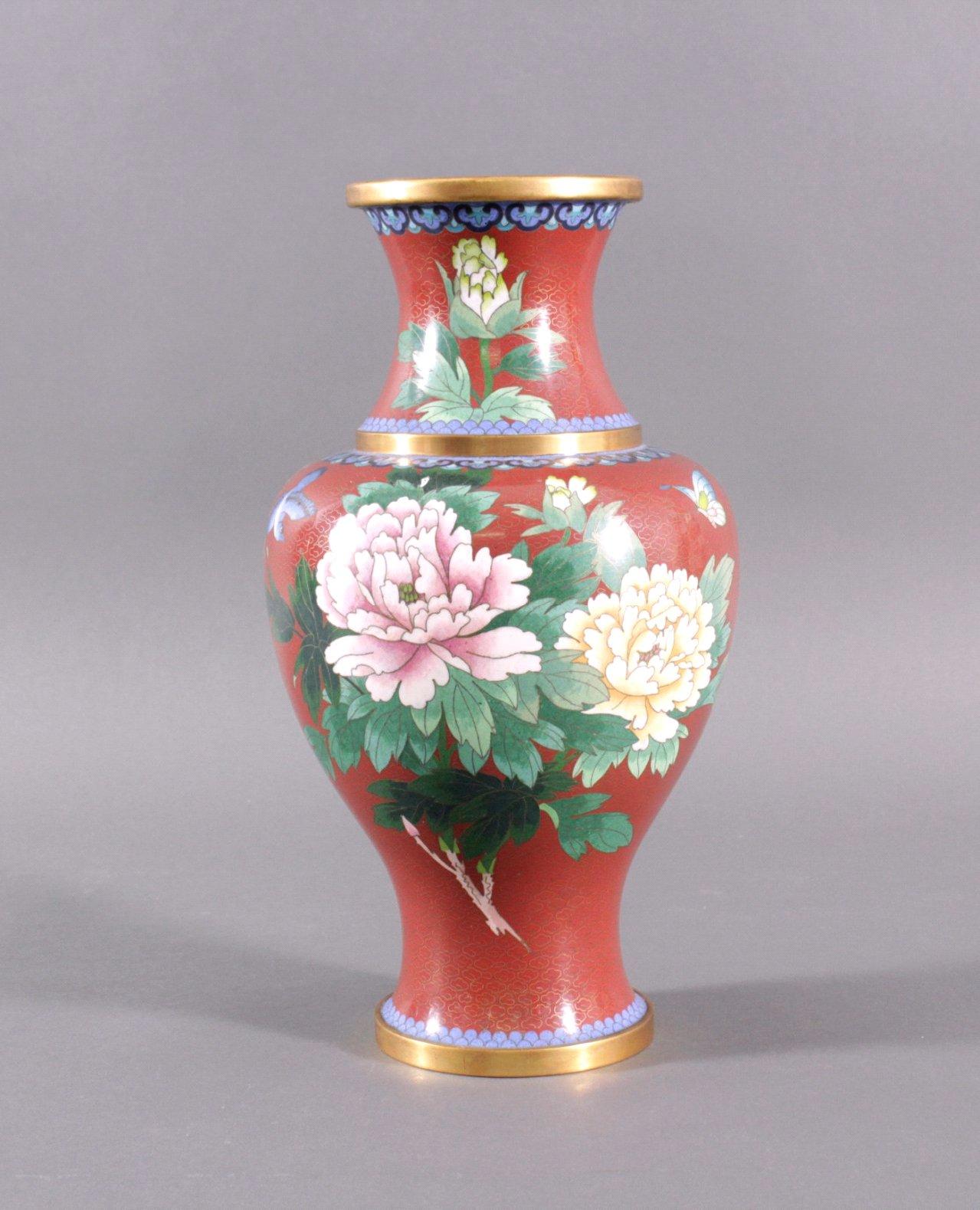Große Cloisonne Vase