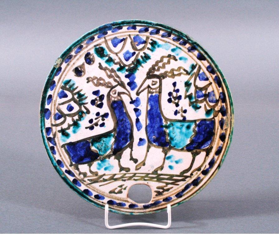 Keramikteller, osmanisch oder persisch 18./19. Jh.