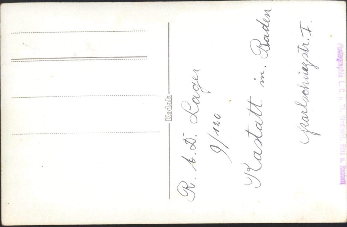 III. REICH, seltene Fotopostkarte R.A.D. LAGER RASTATT-1
