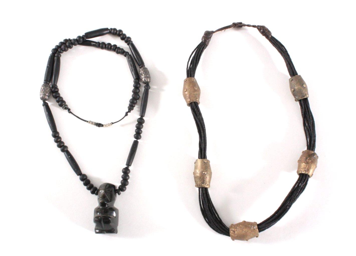 Afrikanischer Nomadenschmuck, 2 Halsketten