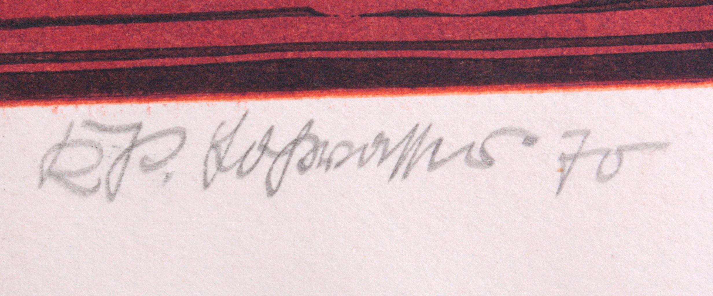 """Farblithographie """"Interieur""""-1"""