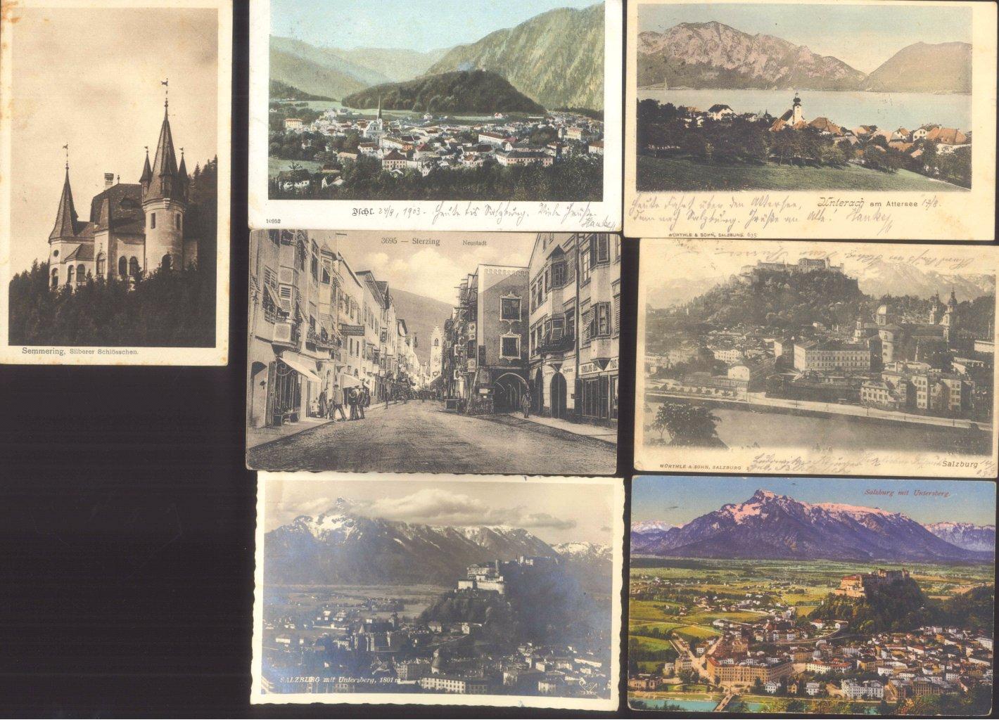 ÖSTERREICH Ansichtskarten Topographie 1902-1942