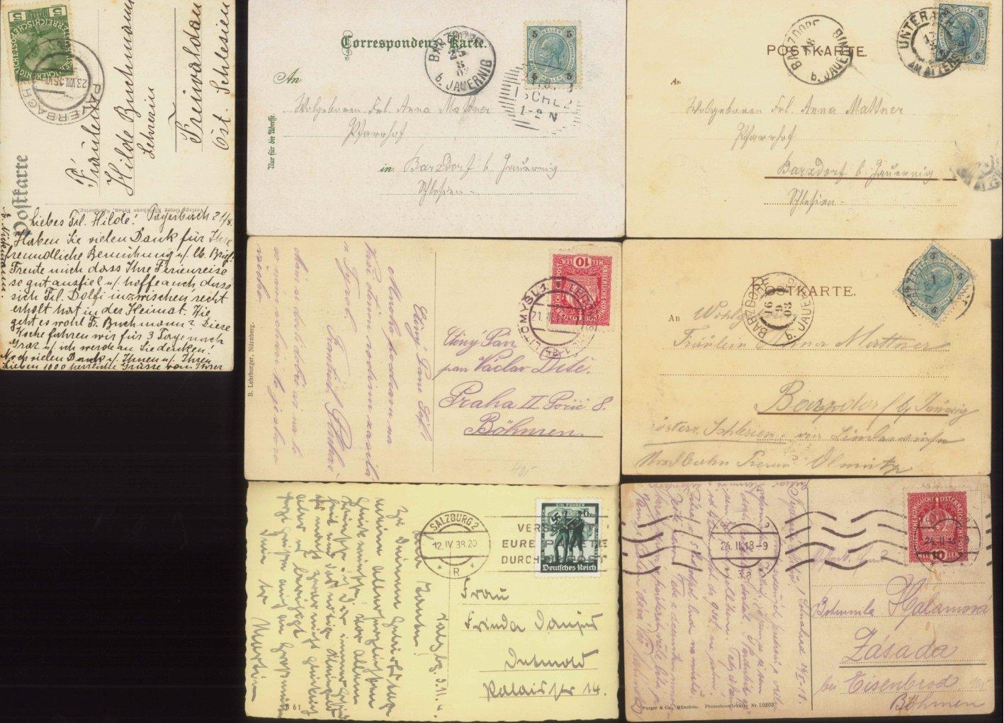 ÖSTERREICH Ansichtskarten Topographie 1902-1942-1