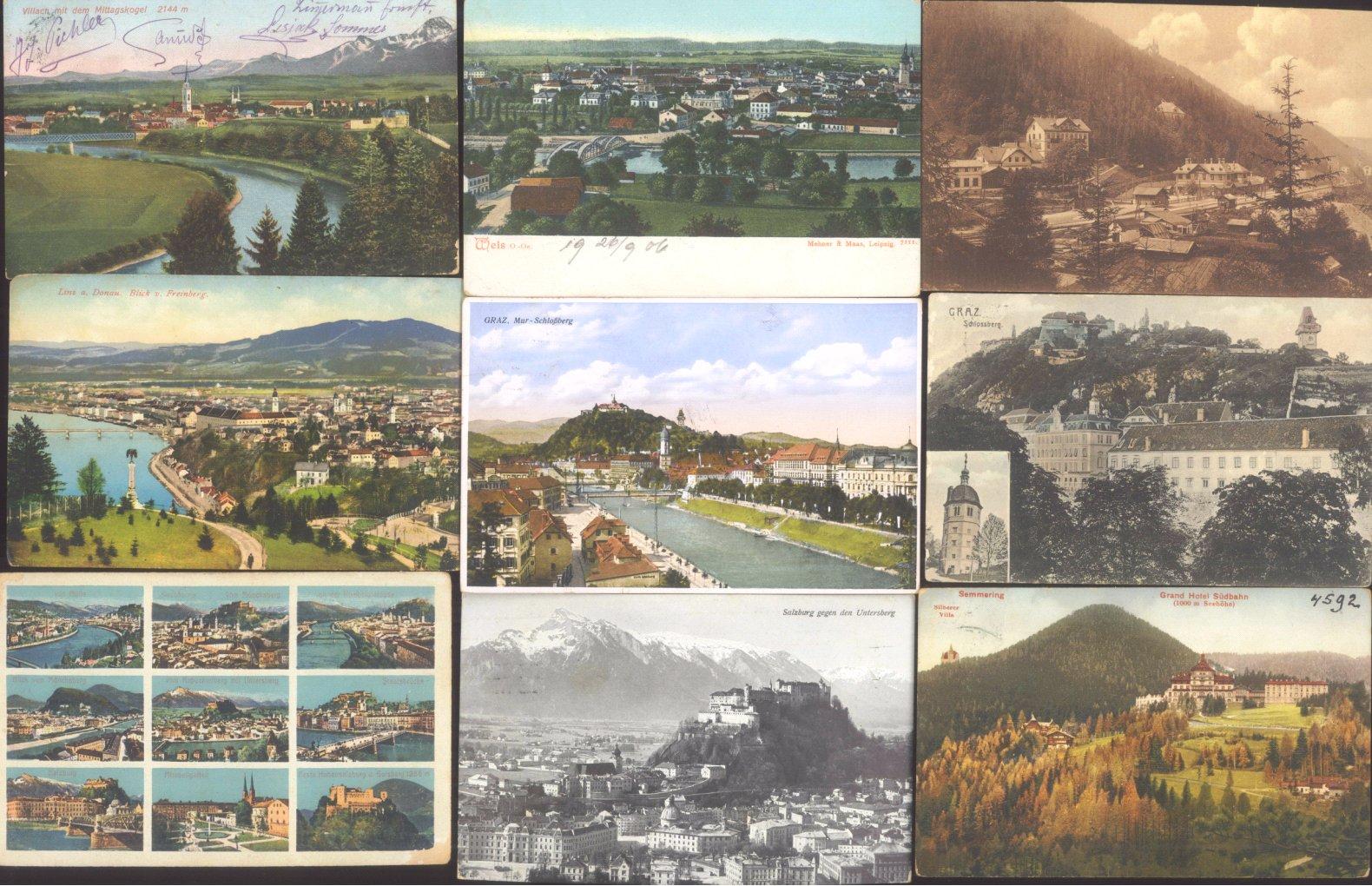 ÖSTERREICH Ansichtskarten Topographie 1902-1942-2