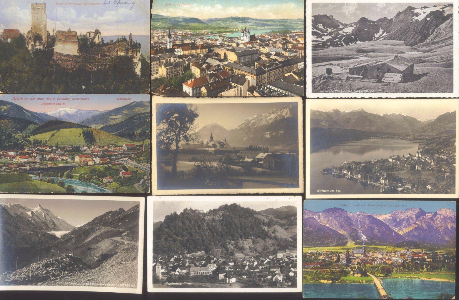 ÖSTERREICH Ansichtskarten Topographie 1902-1942-3