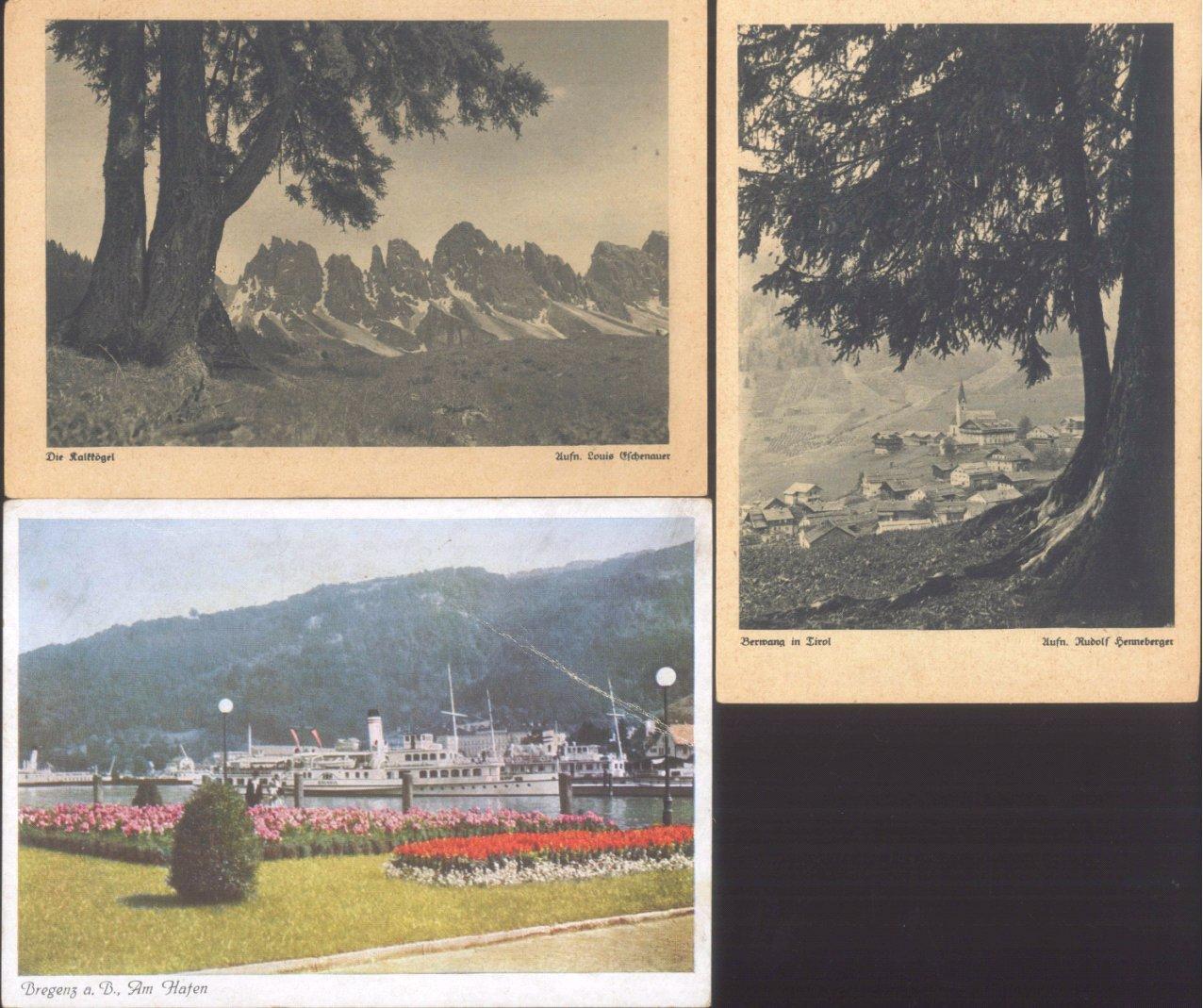 ÖSTERREICH Ansichtskarten Topographie 1902-1942-5